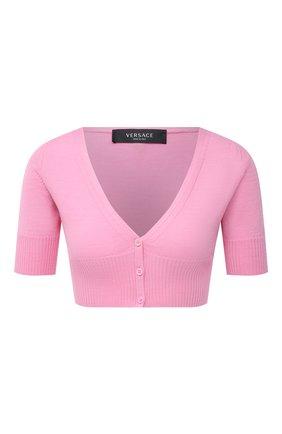 Женский шерстяной кардиган VERSACE розового цвета, арт. A88423/A237513 | Фото 1