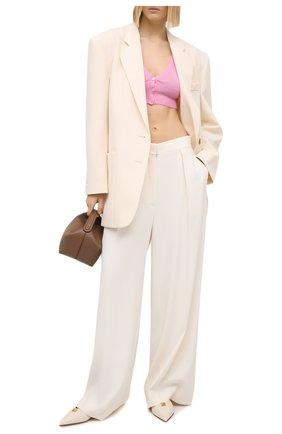 Женский шерстяной кардиган VERSACE розового цвета, арт. A88423/A237513 | Фото 2