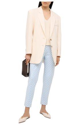 Женские брюки BALMAIN голубого цвета, арт. VF15172/X447 | Фото 2