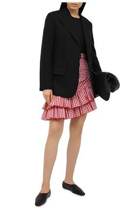 Женская хлопковая юбка BALMAIN красного цвета, арт. VF14315/C280 | Фото 2