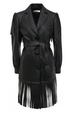 Женское платье из экокожи PHILOSOPHY DI LORENZO SERAFINI черного цвета, арт. V0604/740 | Фото 1