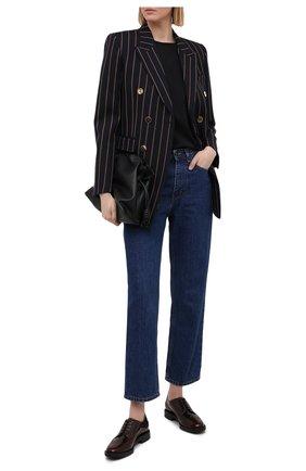 Женская кожаные дерби TOD'S бордового цвета, арт. XXW60C0DE20EB5 | Фото 2
