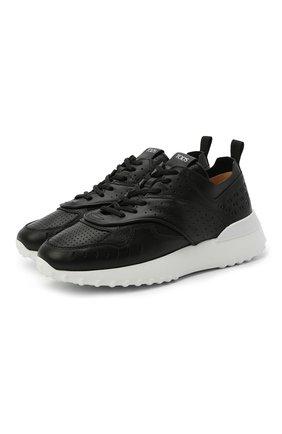 Женские кожаные кроссовки TOD'S черного цвета, арт. XXW80A0W590JUS | Фото 1