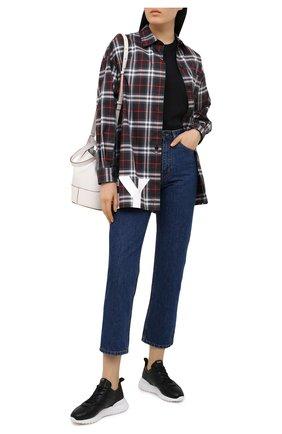 Женские кожаные кроссовки TOD'S черного цвета, арт. XXW80A0W590JUS | Фото 2