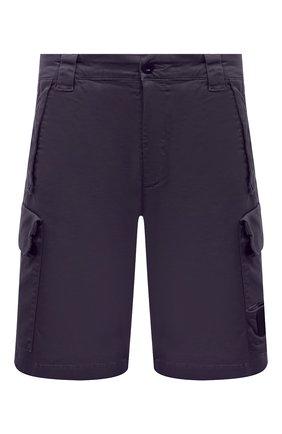 Мужские хлопковые шорты C.P. COMPANY темно-синего цвета, арт. 10CMBE160A-005694G | Фото 1 (Мужское Кросс-КТ: Шорты-одежда; Материал внешний: Хлопок; Длина Шорты М: До колена; Принт: Без принта; Стили: Кэжуэл)