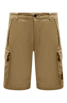 Мужские хлопковые шорты C.P. COMPANY бежевого цвета, арт. 10CMBE160A-005694G | Фото 1