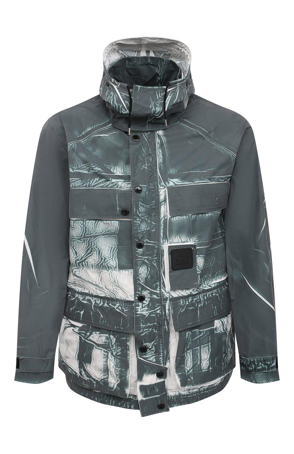 Мужская куртка C.P. COMPANY зеленого цвета, арт. 10CM0W214A-005990P | Фото 1 (Кросс-КТ: Куртка, Ветровка; Рукава: Длинные; Материал внешний: Синтетический материал; Длина (верхняя одежда): Короткие; Стили: Кэжуэл)
