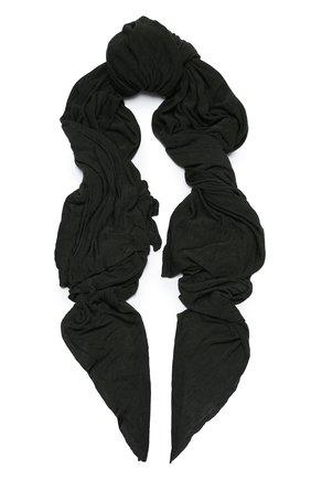 Мужской шарф из вискозы TRANSIT хаки цвета, арт. SCAUTRN5001 | Фото 1