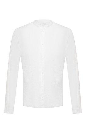Мужская льняная рубашка TRANSIT белого цвета, арт. CFUTRNV312 | Фото 1