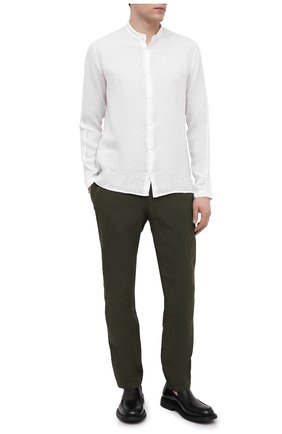 Мужская льняная рубашка TRANSIT белого цвета, арт. CFUTRNV312 | Фото 2