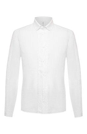 Мужская льняная рубашка TRANSIT белого цвета, арт. CFUTRNV310   Фото 1