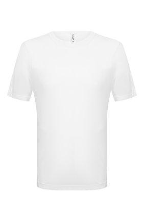 Мужская хлопковая футболка TRANSIT белого цвета, арт. CFUTRN2371 | Фото 1
