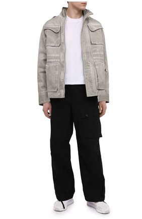 Мужская хлопковая футболка TRANSIT белого цвета, арт. CFUTRN2371 | Фото 2