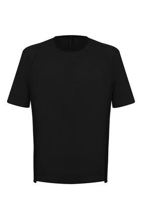 Мужская хлопковая футболка TRANSIT черного цвета, арт. CFUTRN1362 | Фото 1