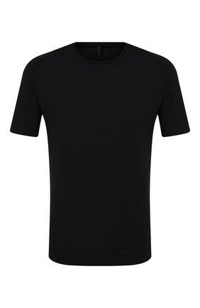 Мужская футболка из хлопка и льна TRANSIT черного цвета, арт. CFUTRN1360 | Фото 1