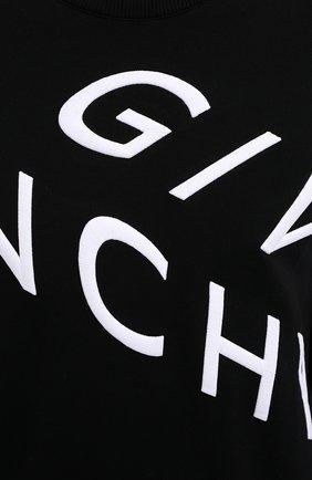 Мужской хлопковый свитшот GIVENCHY черного цвета, арт. BMJ07H30AF | Фото 5 (Рукава: Длинные; Длина (для топов): Стандартные; Принт: С принтом; Мужское Кросс-КТ: свитшот-одежда; Материал внешний: Хлопок; Стили: Кэжуэл)