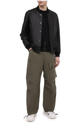 Мужская хлопковая футболка VALENTINO черного цвета, арт. VV3MG07D735 | Фото 2 (Длина (для топов): Стандартные; Рукава: Короткие; Стили: Кэжуэл; Материал внешний: Хлопок; Принт: С принтом)