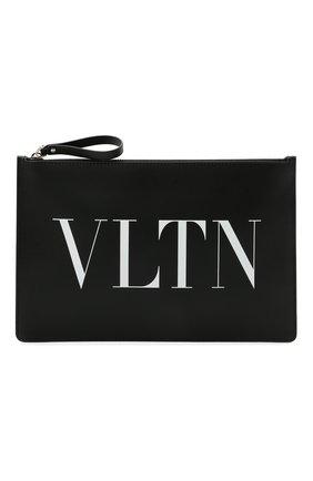 Мужской кожаный футляр для документов valentino garavani VALENTINO черно-белого цвета, арт. VY2P0483/LVN | Фото 1