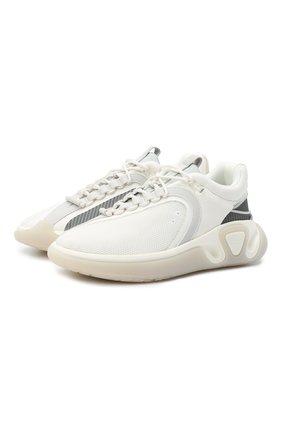 Мужские комбинированные кроссовки b-runner BALMAIN белого цвета, арт. VM1C261/TGHR | Фото 1