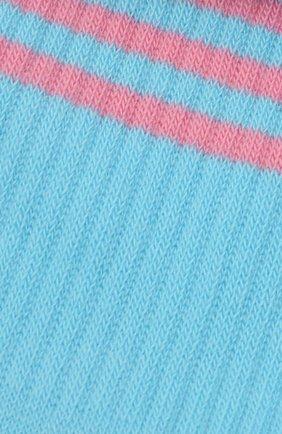 Мужские хлопковые носки VERSACE голубого цвета, арт. ICZ0003/IK0203 | Фото 2