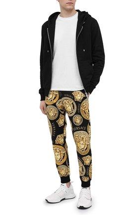 Мужские хлопковые джоггеры VERSACE золотого цвета, арт. A88739/1F00721 | Фото 2
