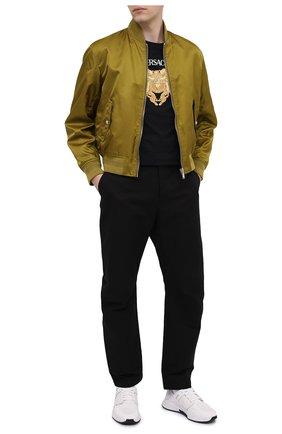Мужская хлопковая футболка VERSACE черного цвета, арт. A88444/A237441 | Фото 2