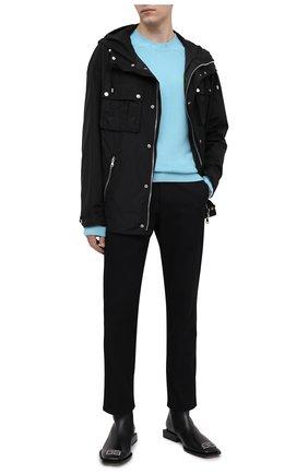 Мужской кашемировый свитер VERSACE голубого цвета, арт. A88199/A237529 | Фото 2