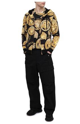 Мужская хлопковая футболка VERSACE золотого цвета, арт. A76113/1F00641 | Фото 2