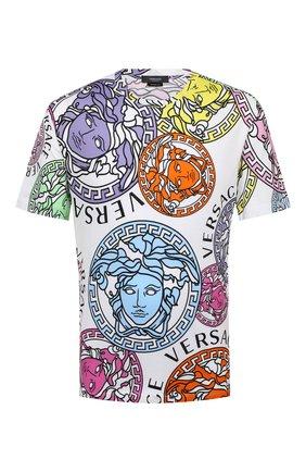 Мужская хлопковая футболка VERSACE разноцветного цвета, арт. A76113/1F00404 | Фото 1