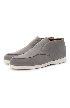 Мужские замшевые ботинки DOUCAL'S серого цвета, арт. DU2815ARTHUF106IN22   Фото 1