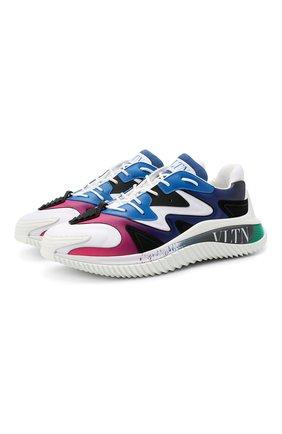 Мужские комбинированные кроссовки wade runner VALENTINO разноцветного цвета, арт. VY2S0D95/LBM | Фото 1 (Материал внешний: Текстиль; Материал внутренний: Текстиль; Подошва: Массивная; Стили: Гранж)