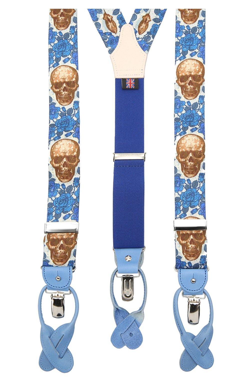 Мужские хлопковые подтяжки ALBERT THURSTON синего цвета, арт. 20/SHIRTING   Фото 2 (Материал: Текстиль, Хлопок)