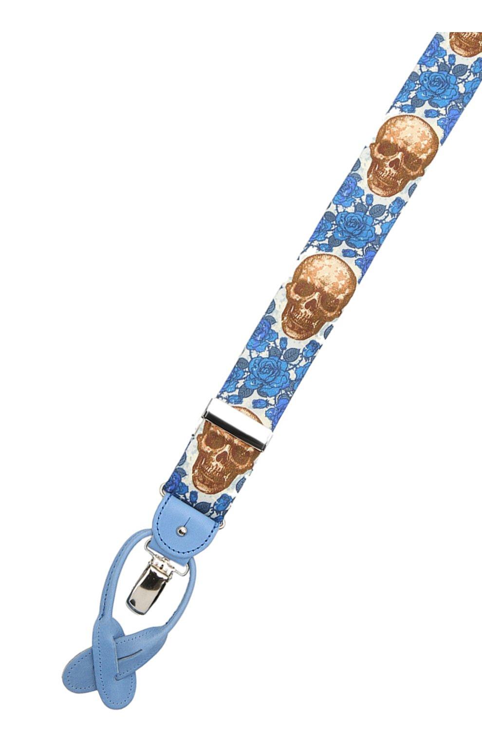 Мужские хлопковые подтяжки ALBERT THURSTON синего цвета, арт. 20/SHIRTING   Фото 3 (Материал: Текстиль, Хлопок)