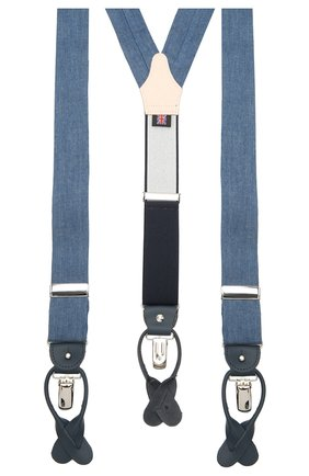 Мужские хлопковые подтяжки ALBERT THURSTON синего цвета, арт. 20/2610/3 | Фото 2