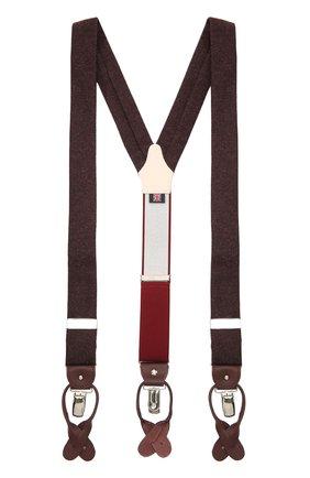 Мужские шерстяные подтяжки ALBERT THURSTON бордового цвета, арт. 20/2470/7 | Фото 1