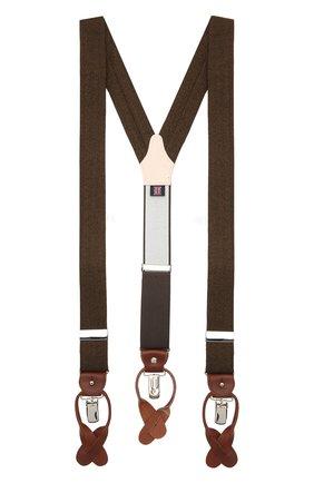 Мужские шерстяные подтяжки ALBERT THURSTON коричневого цвета, арт. 20/2469/3 | Фото 1