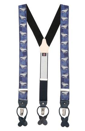Мужские шелковые подтяжки ALBERT THURSTON синего цвета, арт. 55/2231 | Фото 1