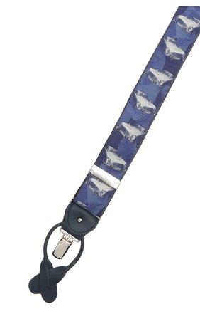 Мужские шелковые подтяжки ALBERT THURSTON синего цвета, арт. 55/2231 | Фото 3 (Материал: Текстиль)