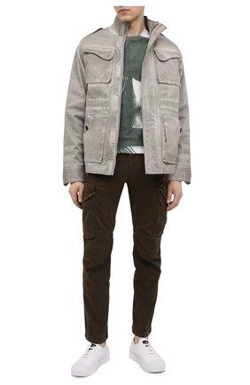 Мужские кожаные кеды STONE ISLAND белого цвета, арт. 7415S0149 | Фото 2
