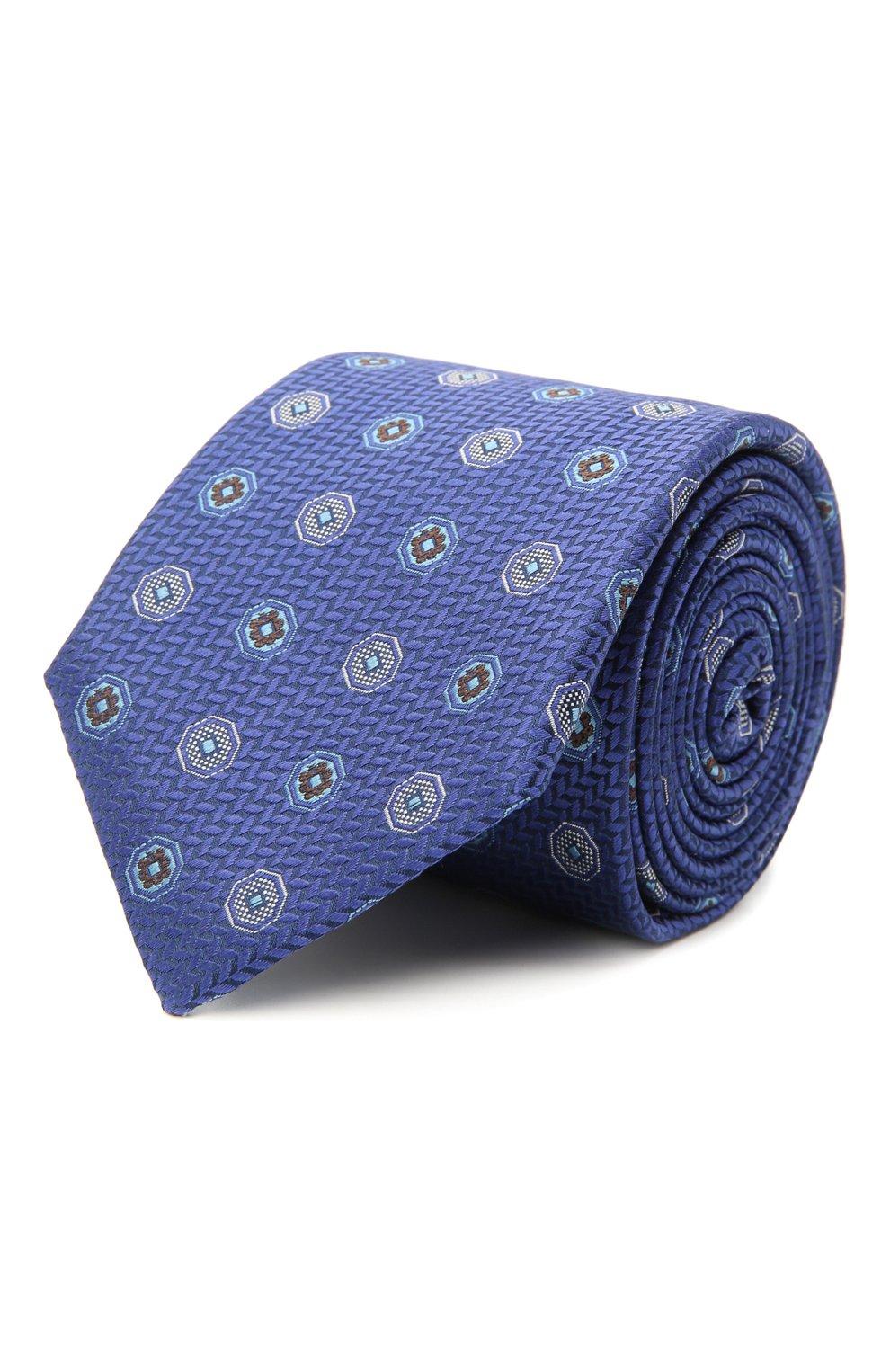 Мужской шелковый галстук CANALI темно-синего цвета, арт. 18/HJ03137   Фото 1