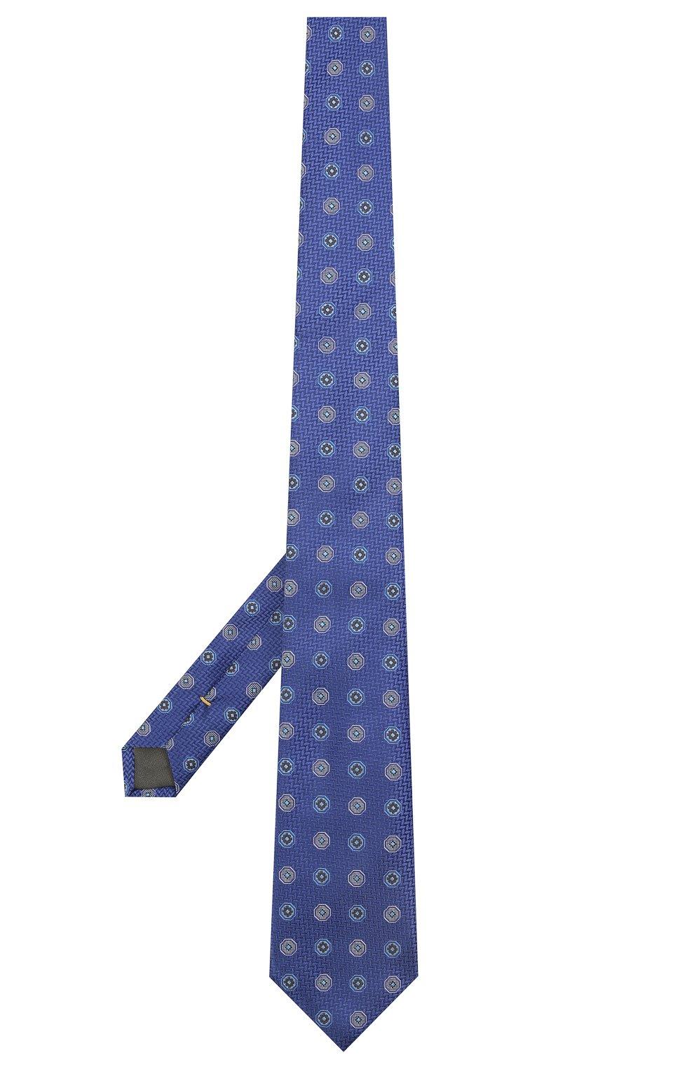 Мужской шелковый галстук CANALI темно-синего цвета, арт. 18/HJ03137   Фото 2