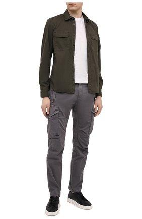 Мужские кожаные кеды SANTONI черного цвета, арт. MBCD21430BARCMMDN01 | Фото 2