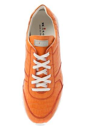 Мужские кроссовки из кожи аллигатора KITON оранжевого цвета, арт. USSVLAWN00102/AMIS | Фото 5