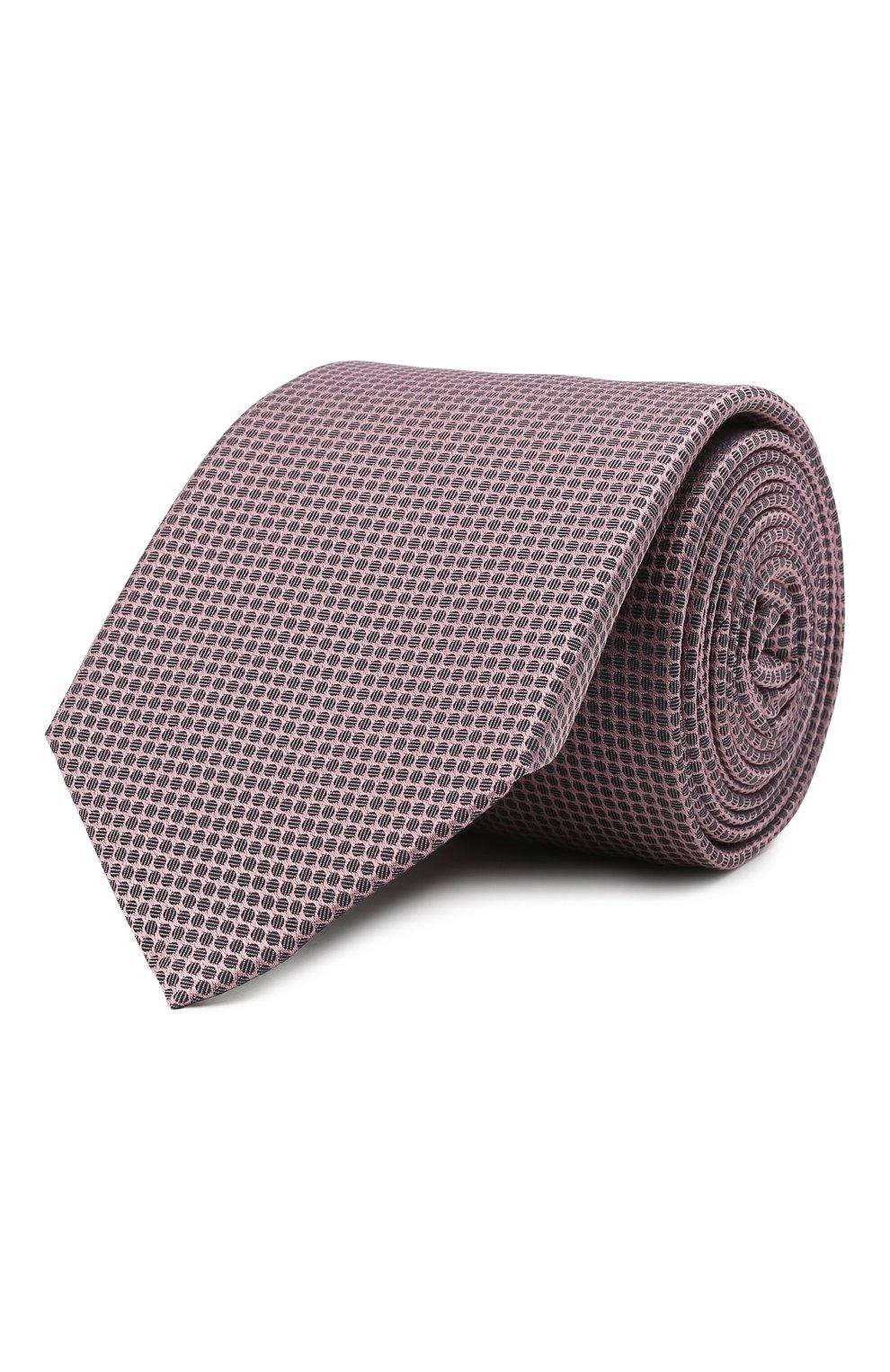 Мужской шелковый галстук BOSS розового цвета, арт. 50446842 | Фото 1