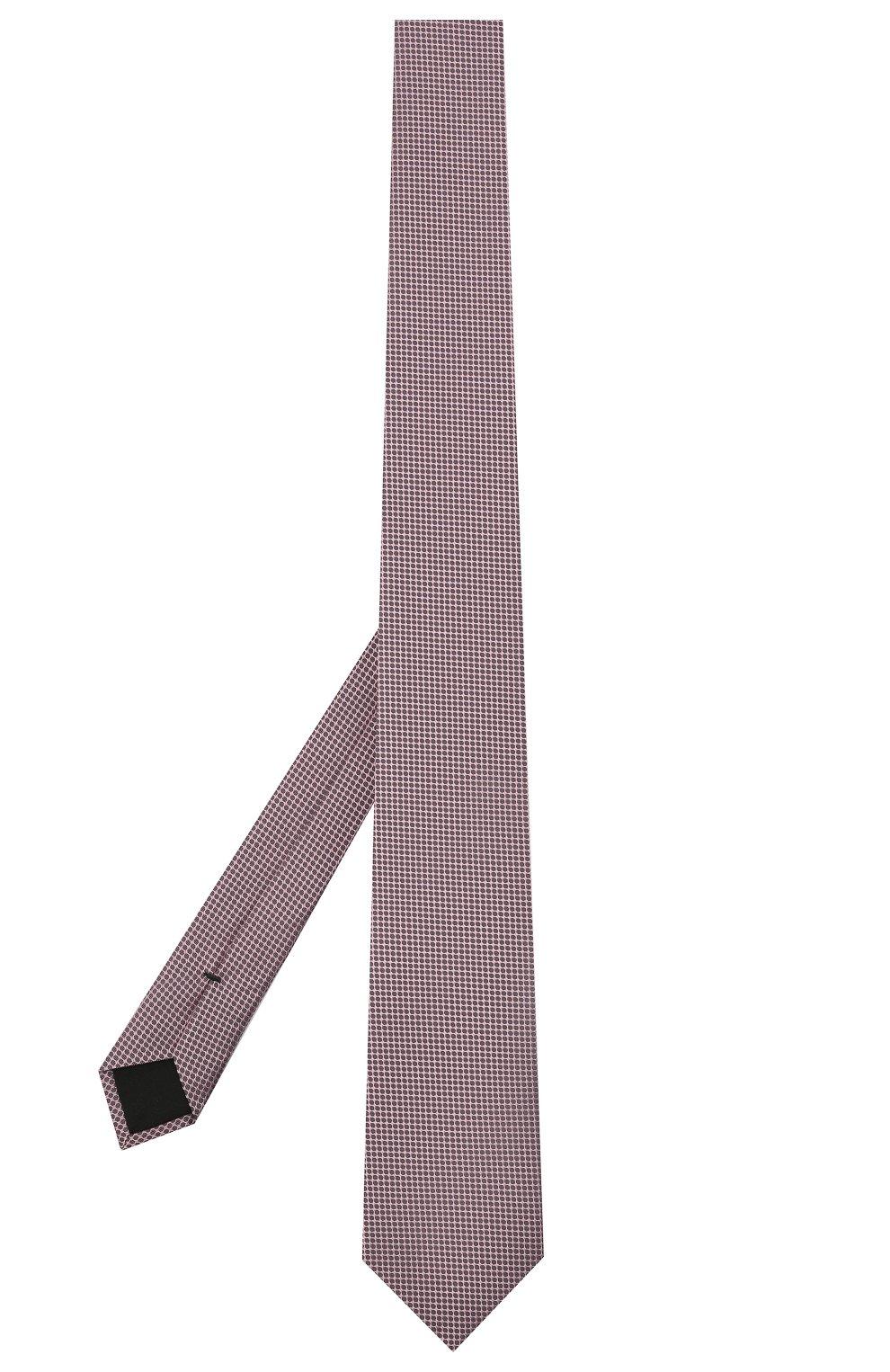 Мужской шелковый галстук BOSS розового цвета, арт. 50446842 | Фото 2