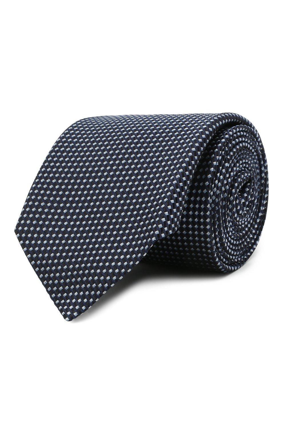 Мужской шелковый галстук HUGO синего цвета, арт. 50451999   Фото 1