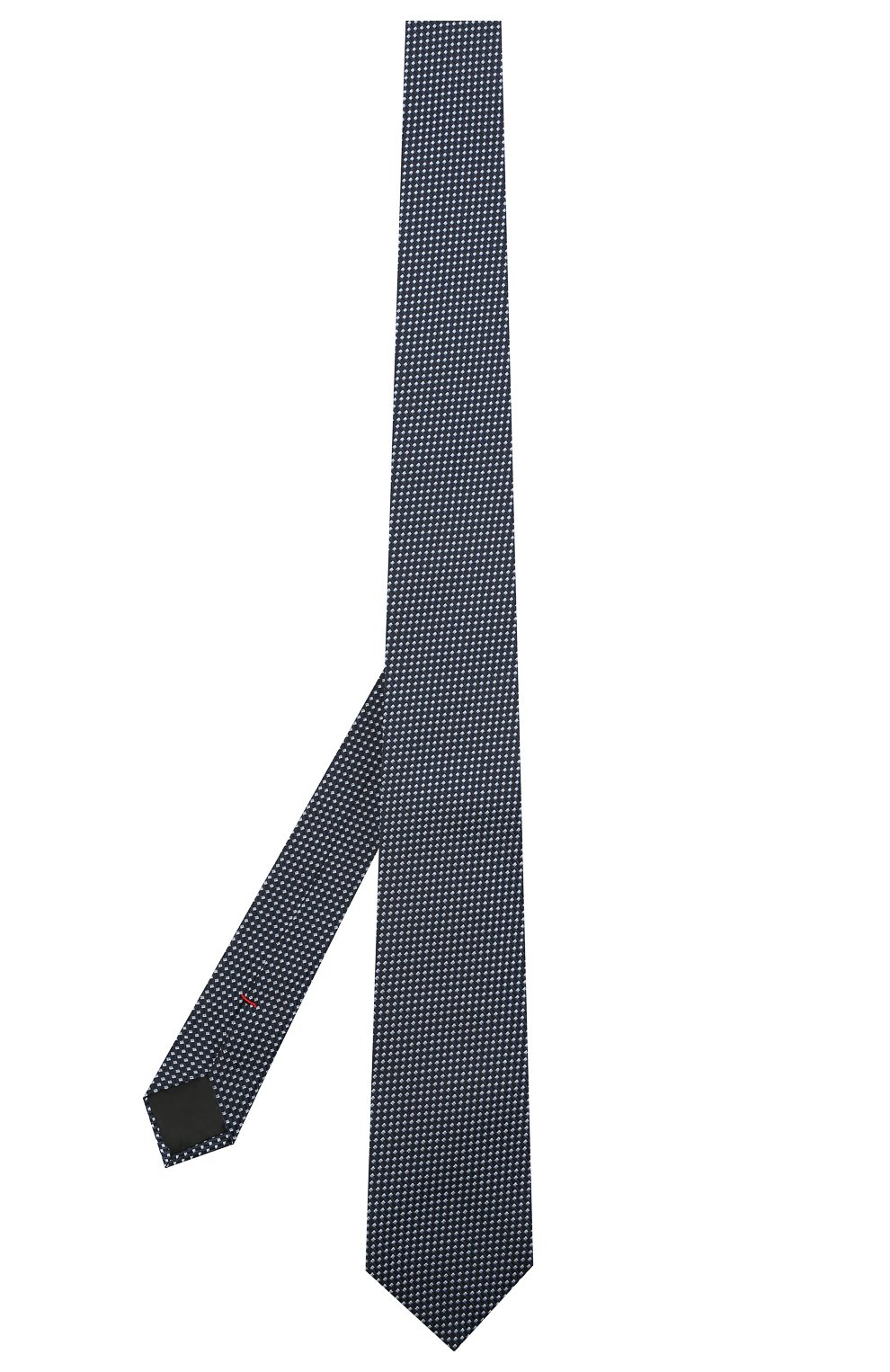 Мужской шелковый галстук HUGO синего цвета, арт. 50451999   Фото 2