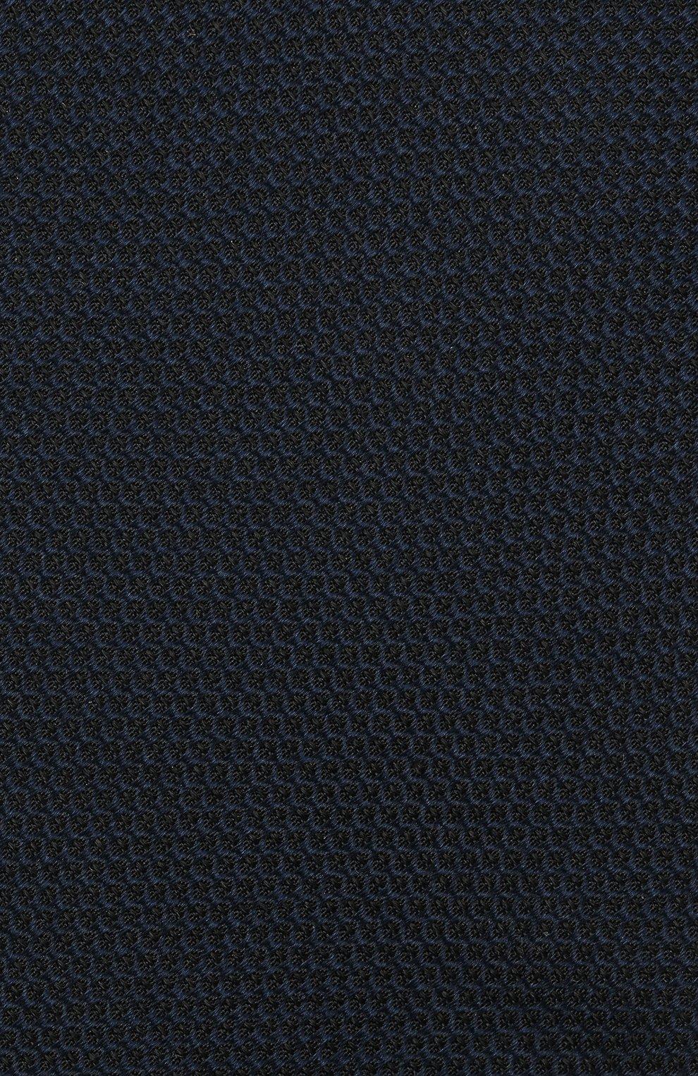 Мужской шелковый галстук HUGO темно-синего цвета, арт. 50452007 | Фото 3
