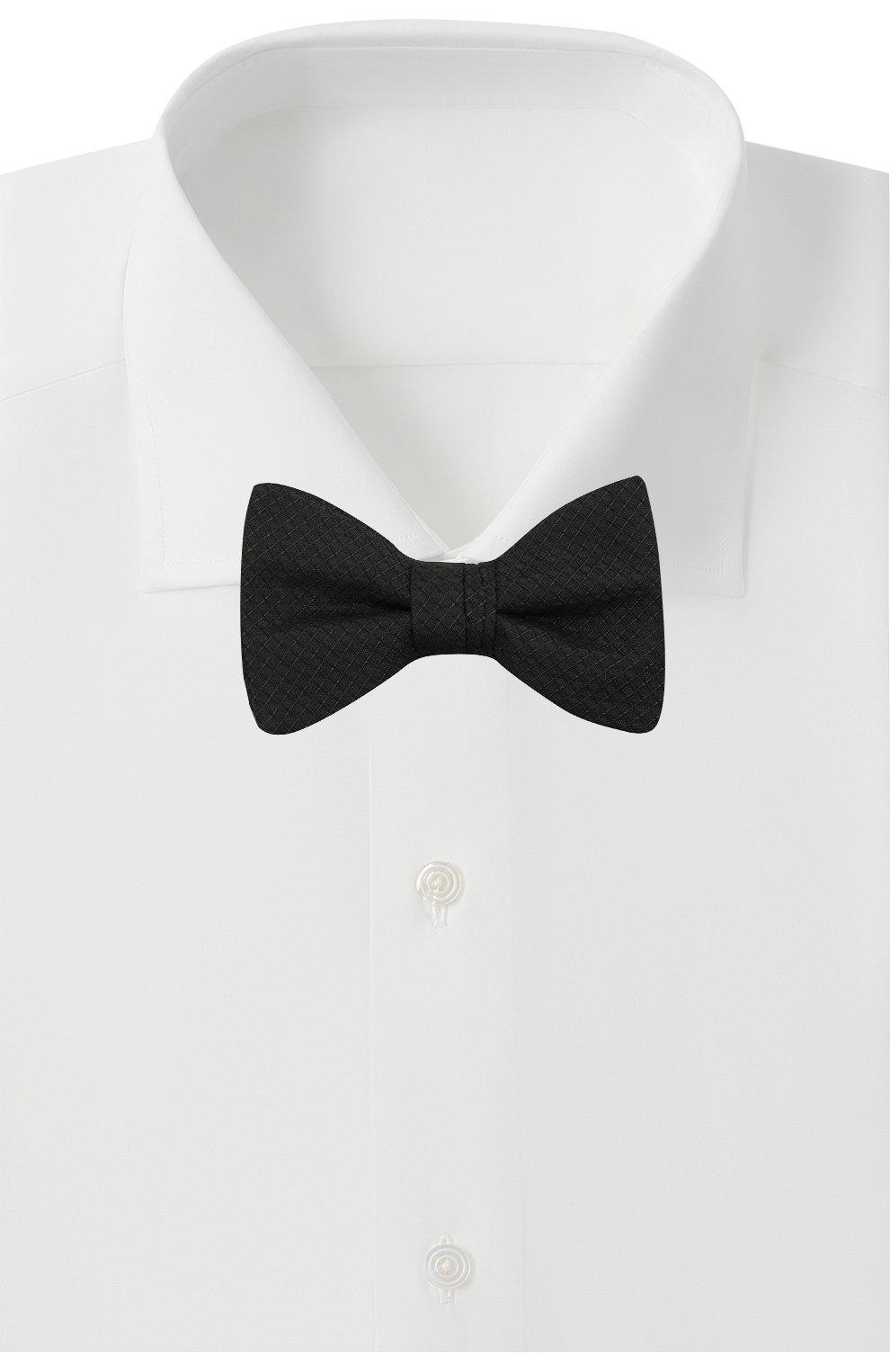 Мужской шелковый галстук-бабочка HUGO черного цвета, арт. 50449253   Фото 2