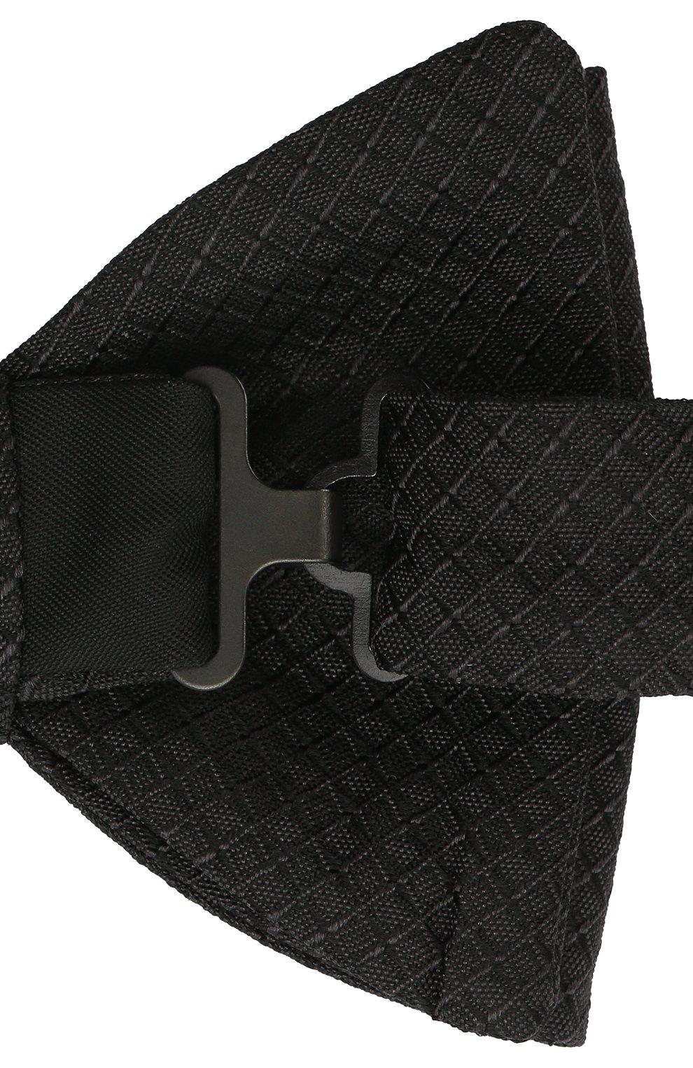 Мужской шелковый галстук-бабочка HUGO черного цвета, арт. 50449253   Фото 3
